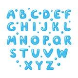 Barnsligt gulligt engelskt alfabet vektor illustrationer