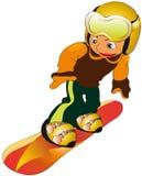barnsnowboard Royaltyfri Bild