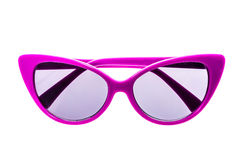 Barnsolglasögon, solskuggor eller anblickar som isoleras på vit Arkivbilder