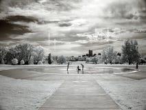 barnspringbrunn Arkivfoto