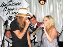 Barnstable-Brown Gala. LOUISVILLE, KY - MAY 1: Kid Rock performs with Lee Ann Womack and Rascal Flatts' Jay De Marcus at the 2009 Barnstable-Brown Gala on May 1 Stock Images