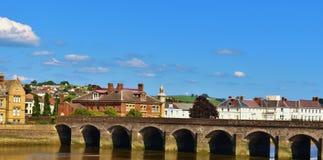 Barnstaple. Bright sunny day over looking barnstaple England Royalty Free Stock Photo
