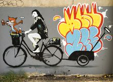 Barnstaplegraffiti Stock Afbeelding
