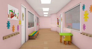 barnstation Arkivbild