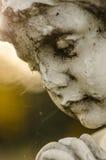 Barnstenframsida av en kerub Royaltyfria Foton