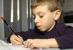barnteckning arkivbild