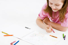 barnteckning royaltyfri fotografi
