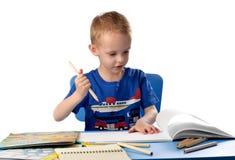 barnteckning arkivbilder