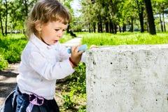 Barnteckning Arkivfoto