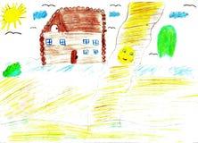 Barnteckning av en saga Koobok - pepparkakapojke Fotografering för Bildbyråer