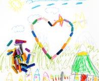 barnteckning s Royaltyfri Bild
