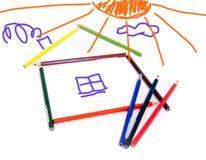 barnteckning s Arkivfoto
