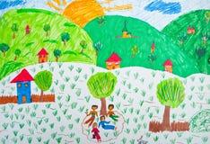 barnteckning s royaltyfri illustrationer