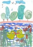 barnteckningar s Arkivfoton