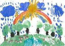 barnteckningar s Arkivfoto