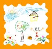 barnteckningen like Royaltyfria Foton