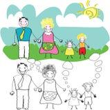 barnteckningen skissar Royaltyfri Foto