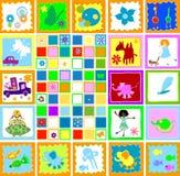 barnungar som leker världen Arkivbild