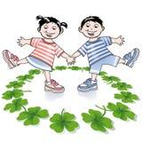 barnväxt av släkten Trifolium royaltyfri illustrationer