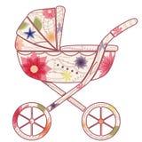 Barnvagn för flicka Royaltyfri Foto