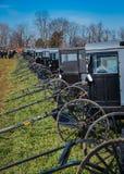 Barnvagnar på Sale Royaltyfria Bilder