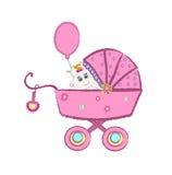 barnvagnvektor royaltyfri illustrationer