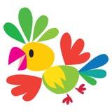 Barnvektorillustration av den roliga papegojan Arkivfoton