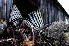 Barnyard. Junkyard of past Stock Photo