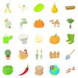 Barnyard icons set, cartoon style. Barnyard icons set. Cartoon set of 25 barnyard icons for web isolated on white background Royalty Free Stock Image