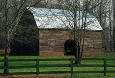 Barnyard im frühen Frühling Stockfoto