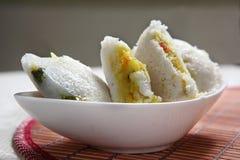 Bhagar Rice idli, Kodisama Rice idli, Jhangora Rice idli, Barnyard Millet Rice Cake, Kuthiraivali idli. Barnyard Millet is full of nutrients for the body needs royalty free stock photo