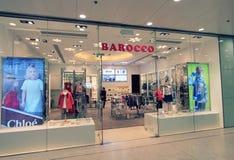 Barocco商店在香港 库存图片