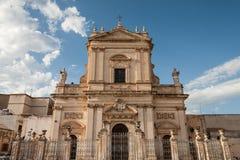 Barocco cattedral在Ispica,拉古萨 库存照片