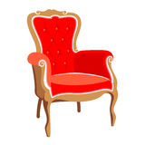 Barocco röd fåtölj Royaltyfri Fotografi