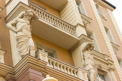 Barocco stilbalkong Arkivfoton