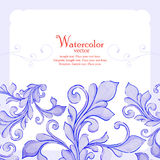 Barocco watercolor lace ornament Stock Photography