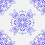Barocco watercolor seamless lace ornament Stock Photos