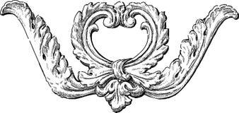 Barock arkitektonisk detalj stock illustrationer