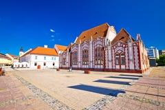 Barock arkitektur av Cakovec den huvudsakliga fyrkanten Royaltyfria Bilder