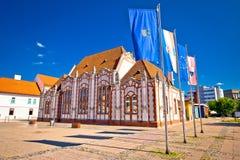 Barock arkitektur av Cakovec den huvudsakliga fyrkanten Royaltyfri Fotografi