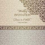 Barock bröllopinbjudan, polityr royaltyfri illustrationer