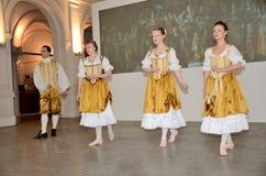 Barock dans i Polen fotografering för bildbyråer