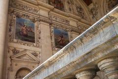 Barock detalj för Wallenstein slott Royaltyfri Bild
