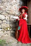 barock dräkt Fotografering för Bildbyråer