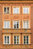 Barock facade i den gammala townen. Warsaw. Polen Arkivfoto