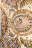 Barock freskomålning av den Torrechiara slotten Royaltyfri Bild