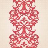 Barock gräns för vektor i viktoriansk stil. Royaltyfri Foto