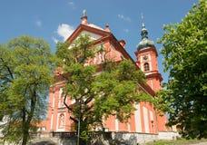 Barock kyrkliga St Mary, Stara Boleslav, Tjeckien Svata Marie royaltyfria foton