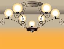 Barock ljuskrona Arkivfoto