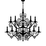 barock ljuskronasilhouette Royaltyfria Bilder